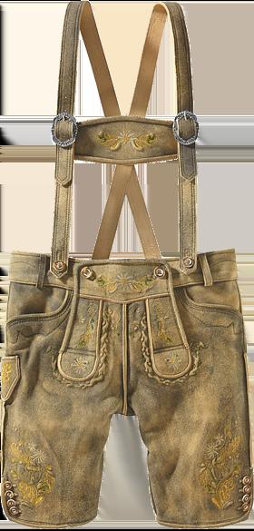 Trachtenlederhose Hirschleder T-Träger stoaoid