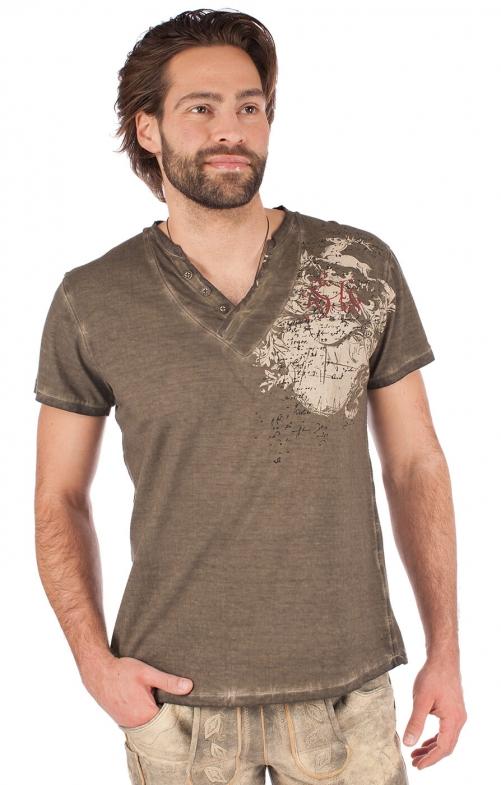 Trachten T-Shirt 93210-7 braun