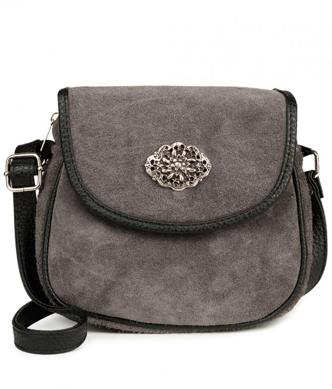 Trachtentasche TA3000 Veloursleder, grau