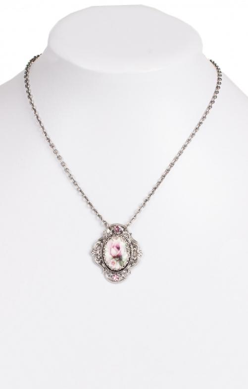 Collier H1653 mit Swarowski, rosa